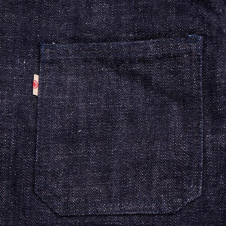 Куртка Momotaro Jeans 03-087 Texture 16 oz  GTB Coverall Indigo Selvedge One Wash