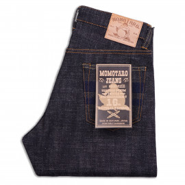 Джинсы Momotaro Jeans 0605-82IE Natural Tapered 16oz Texture Denim ID Embroidery Raw