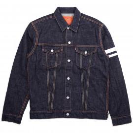 Джинсовая Куртка Momotaro Jeans 3105SP 15,7 oz Zimbabwe Cotton Indigo Denim Jacket One Wash