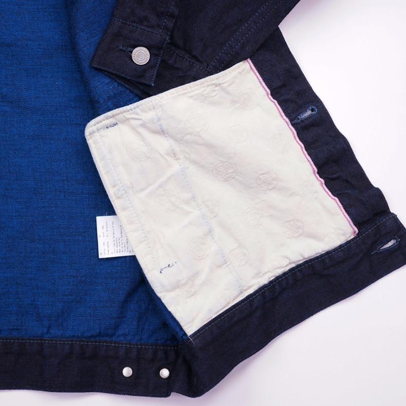 Джинсовая Куртка Momotaro Jeans 2105-14S Zimbabwe Cotton Indigo 13oz Selvedge One Wash