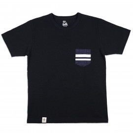 Футболка Momotaro Jeans 07-035 GTB Denim Pocket T-shirt Black