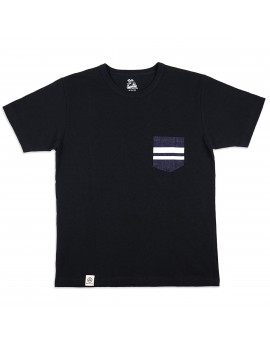 Футболка Momotaro Jeans 07-035 GTB Denim Pocket T-shirt Black