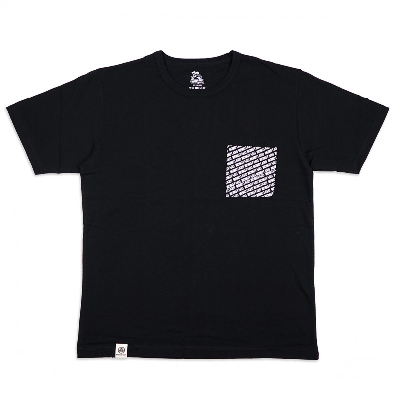 Футболка Momotaro Jeans 07-068 Momotaro Logo Pocket T-shirt Black