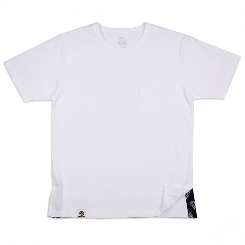 Футболка Momotaro Jeans 07-065 Side Change T-Shirt Pocket White