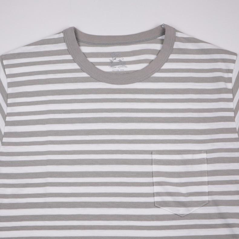 Футболка Momotaro Jeans 07-024 GTB Zimbabwe Cotton Original Border T-shirt Grey