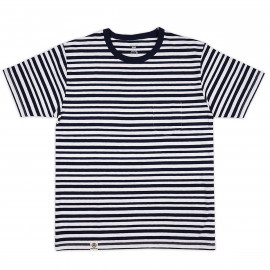Футболка Momotaro Jeans 07-024 GTB Zimbabwe Cotton Original Border T-shirt Navy