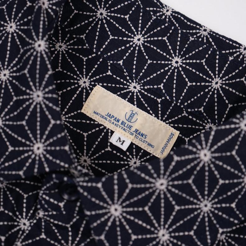Рубашка Japan Blue Jeans J3529J01 Sashiko Shirt Hemp Lief Navy