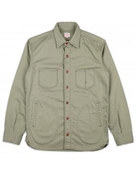 Рубашка Momotaro Jeans 05-213 Pique West Pocket Heritage Jacket Army Green