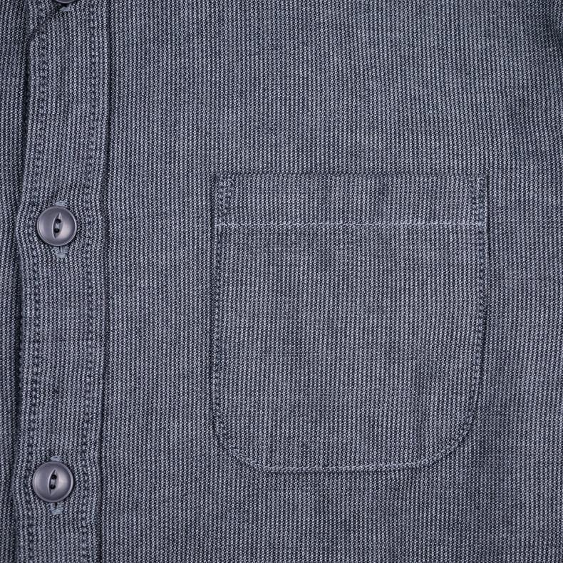 Рубашка Momotaro Jeans 05-208 Cordlane Horizontal Collar Shirt Black