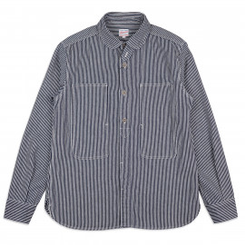Рубашка Momotaro Jeans 05-210 Hickory Jail Pocket Work Shirt