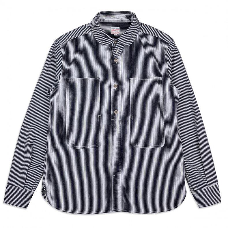 Рубашка Momotaro Jeans 05-210 Hickory Jail Pocket Work Shirt