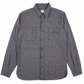 Рубашка Momotaro Jeans 05-214 Twisted Selvedge Chambray Work Shirt Black
