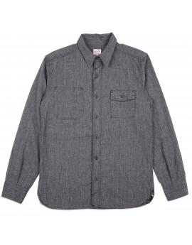 Рубашка Momotaro Jeans 05-214 Twisted Selvedge Chambray Work Shirt Black