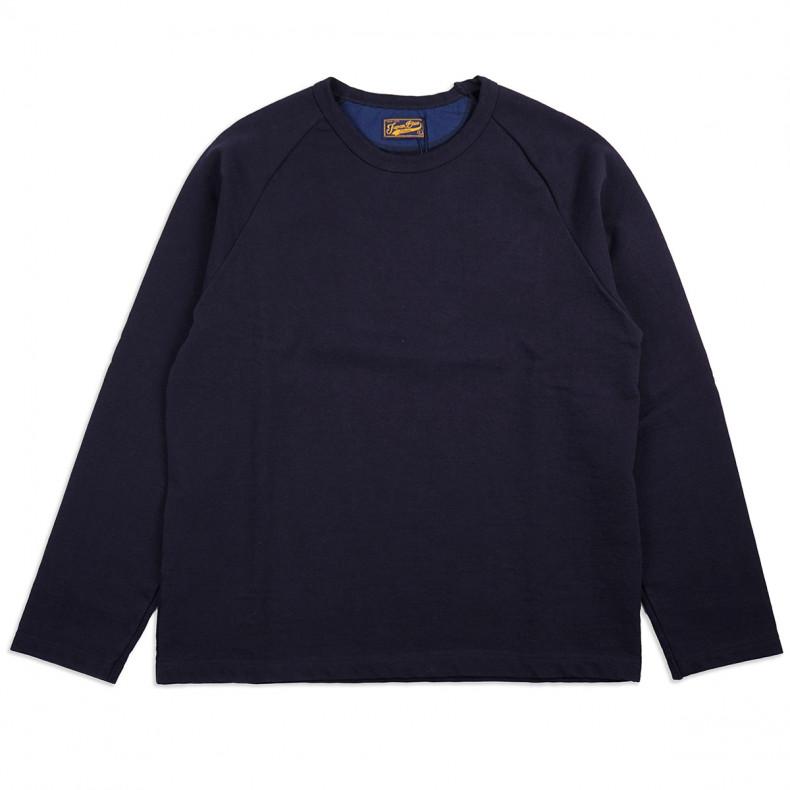 Толстовка Japan Blue Jeans J6740J01 Long-sleeved Raglan T-shirt Hard Inlay Navy