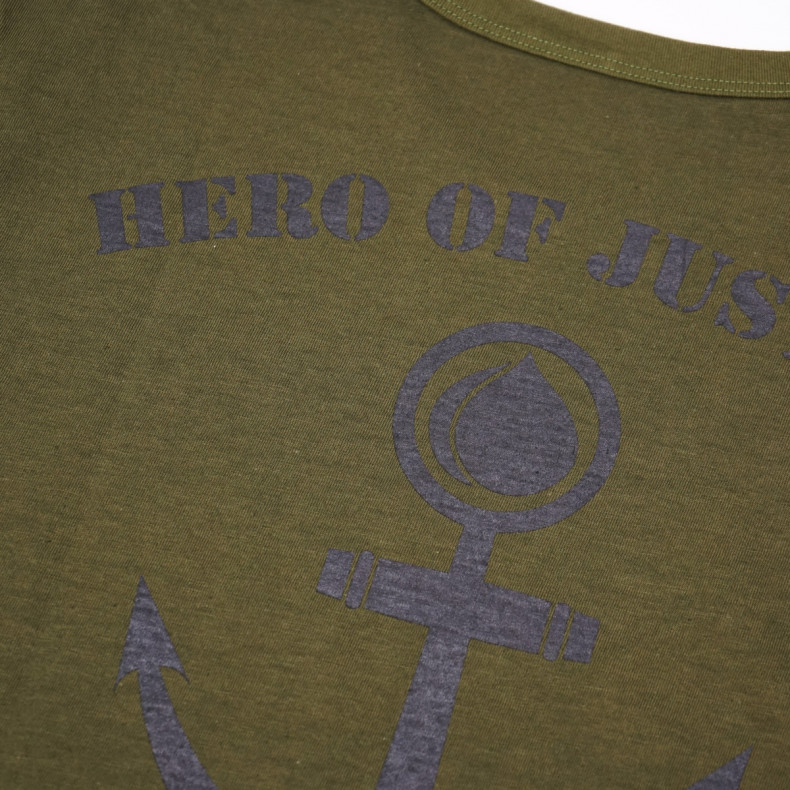 Футболка Momotaro Jeans 07-084 Hero of Justice T-shirt - OD