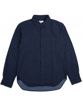 Рубашка Japan Blue Jeans J352932 Sashiko Shijira Shirt Navy