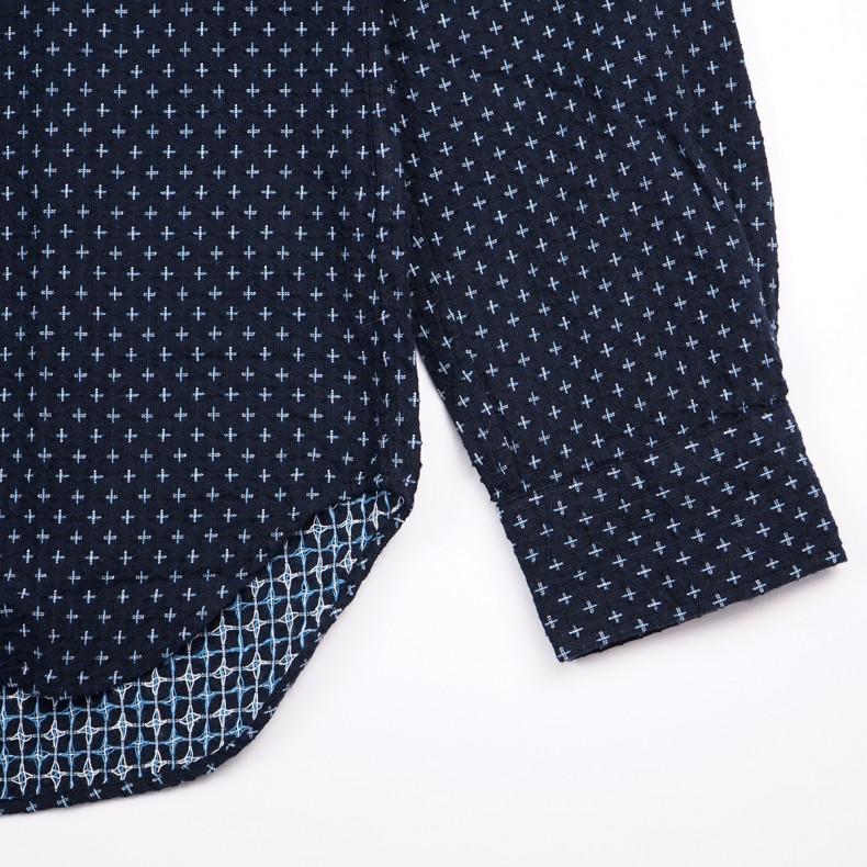 Рубашка Japan Blue Jeans J352932 Sashiko Shijira Shirt Navy