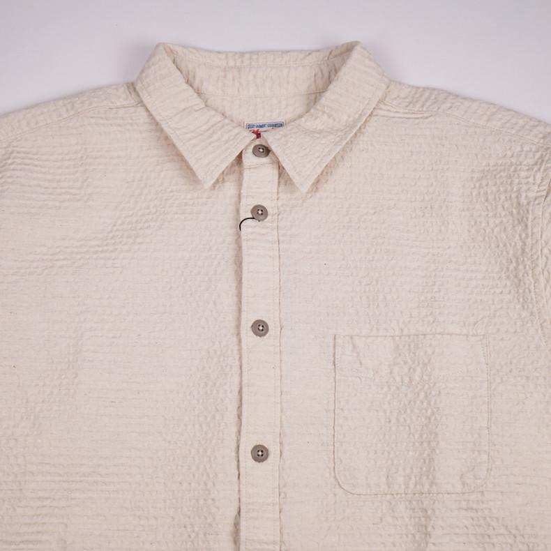 Рубашка Momotaro Jeans 05-255 Sashiko Linen Shirt Natural