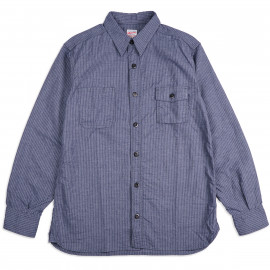 Рубашка Momotaro Jeans 05-260 Twill Stripe Shirt Navy