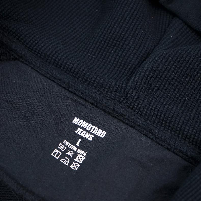 Толстовка Momotaro Jeans 07-044 GTB zip-up sweatshirt Black