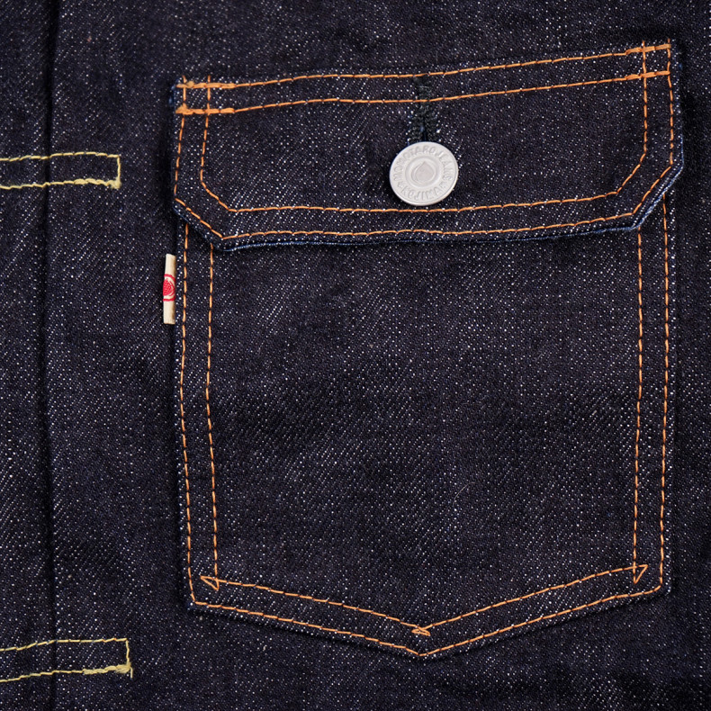 Куртка Momotaro Jeans 2105SP Type2 Indigo GTB 15.7 oz Selvedge - One wash
