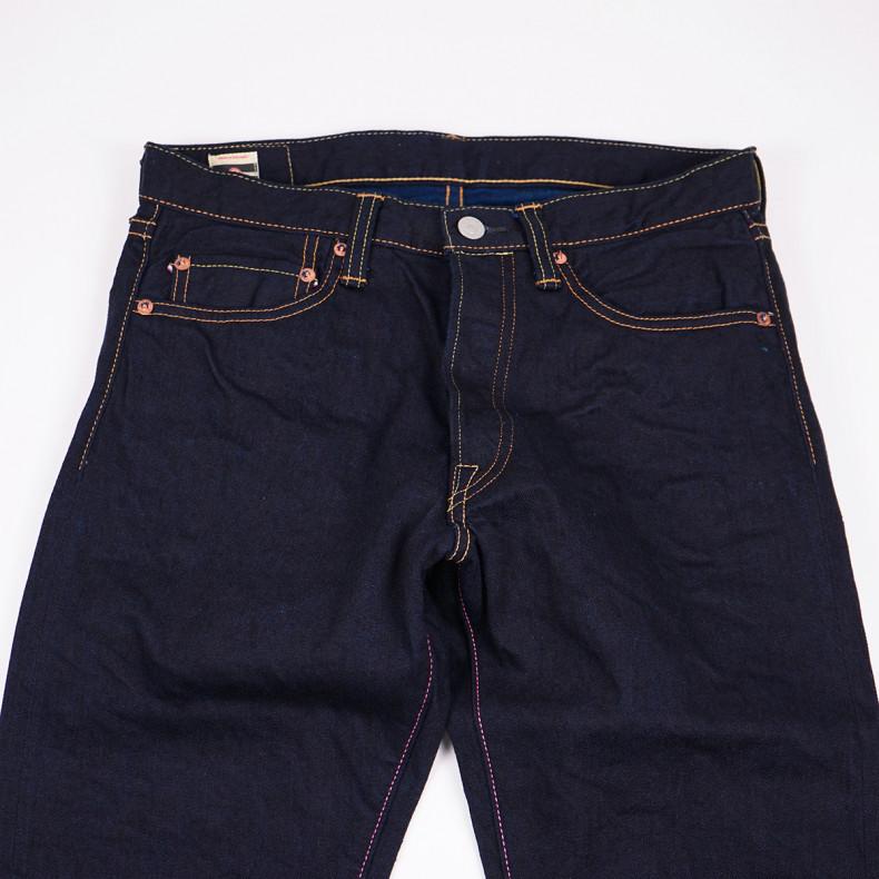 Джинсы Momotaro Jeans 0605-14 Natural Tapered Double Face Indigo 13 Oz
