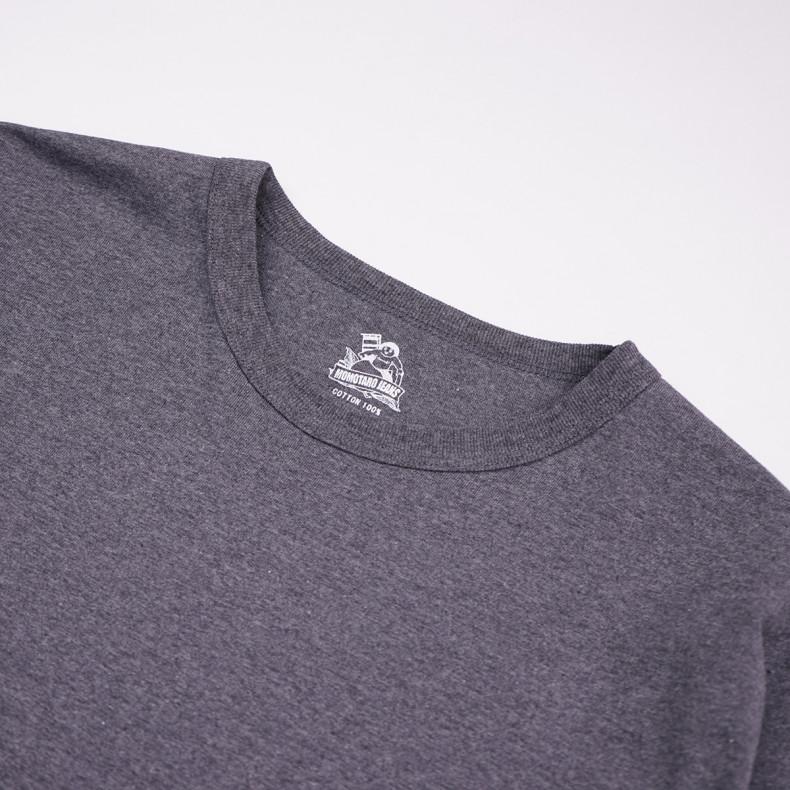 Лонгслив Momotaro Jeans 07-015 Zimbabwe Cotton 8.2oz GTB longsleeve Grey