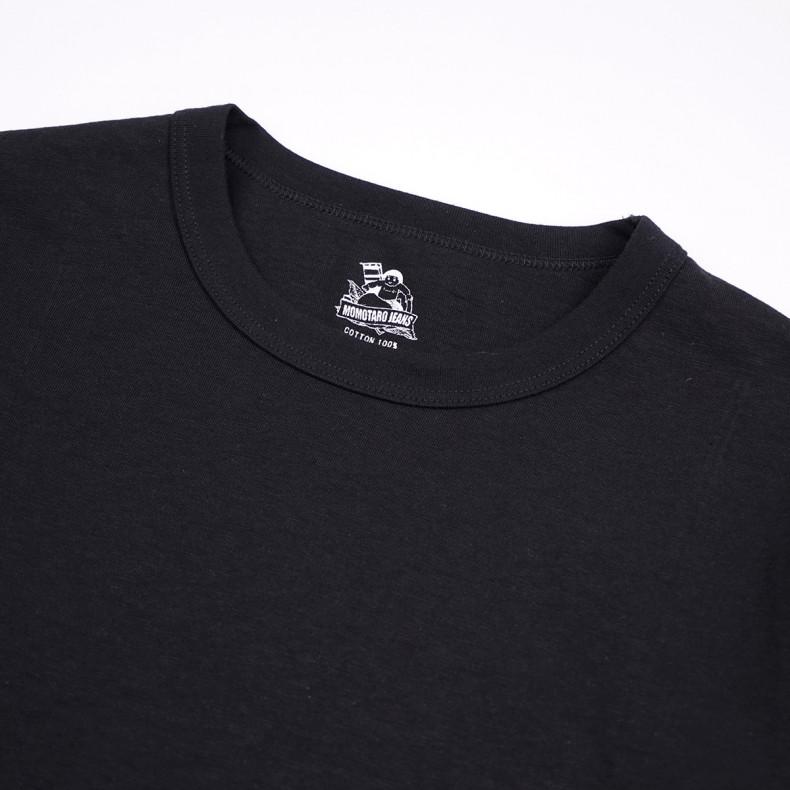Лонгслив Momotaro Jeans 07-015 Zimbabwe Cotton 8.2oz GTB longsleeve Black