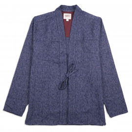 Рубашка Naked and Famous Kimono Heavyweight Japanese Brushed Tweed Navy