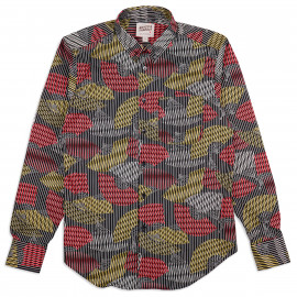 Рубашка Naked and Famous Easy Shirt Japanese Sensu Black