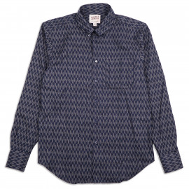 Рубашка Naked and Famous Easy Shirt - Japanese Arrowheads - Indigo