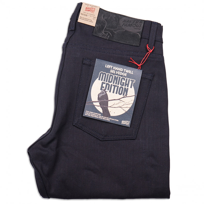 Джинсы Naked and Famous Weird Guy Left Hand Twill Selvedge 13.75 oz Midnight Edition