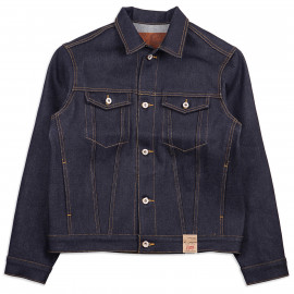 Джинсовая Куртка Naked and Famous Denim Jacket Elephant 8 Supima 21 oz Selvedge