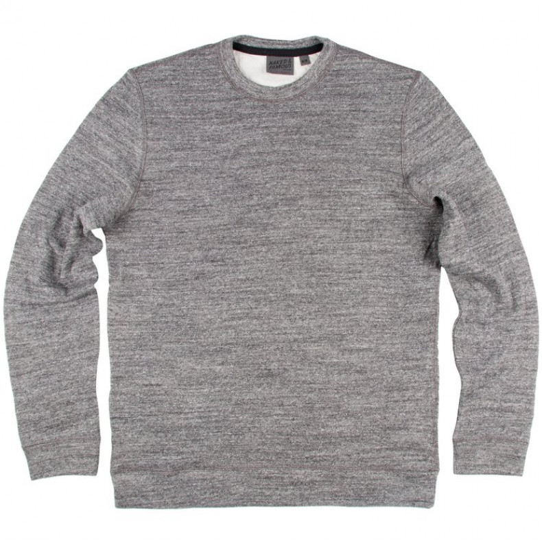 Толстовка Naked and Famous Slim Crew Vintage Doubleface Charcoal