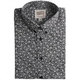 Рубашка Naked and Famous Easy Shirt Black & White Flowers Black