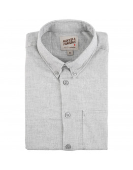 Рубашка Naked and Famous Easy Shirt Soft Twill Pale Grey