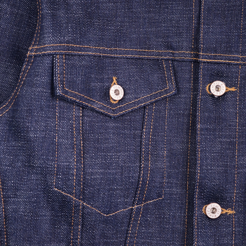 Джинсовка Naked and Famous Elephant 9 Denim Jacket 21 Oz Wild Blue Selvedge Raw