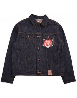 Джинсовка Naked and Famous Denim Jacket Okayama Spirit 4 Super Slub 16.5 Oz Indigo Selvedge Raw