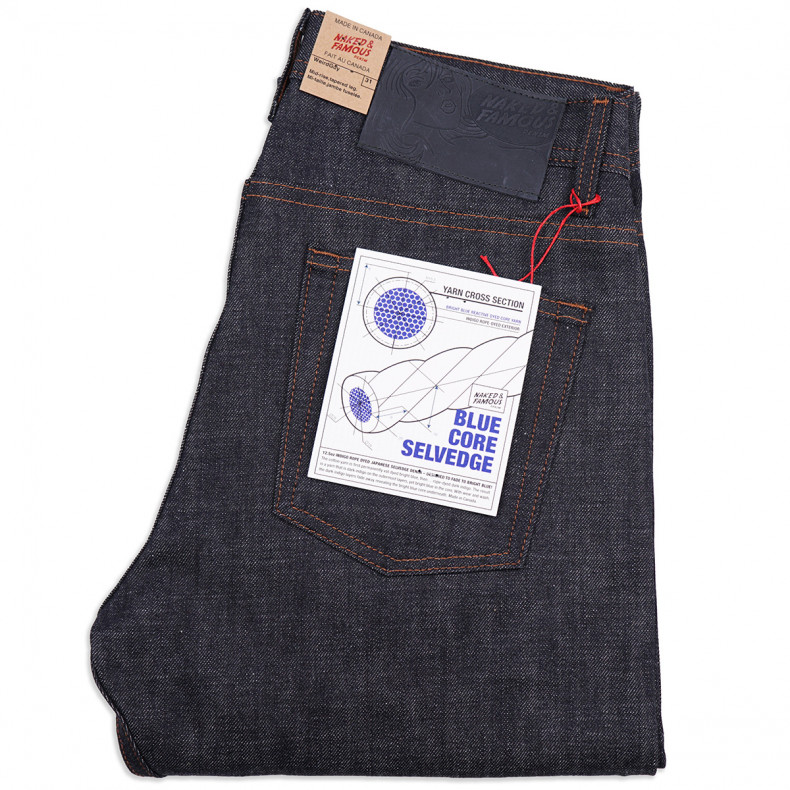 Джинсы Naked and Famous Weird Guy Blue Core Selvedge 12.5 Oz