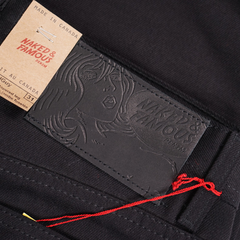 Джинсы Naked and Famous Weird Guy Black Selvedge Chino Twill 12 oz