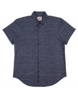 Рубашка Naked and Famous Easy Shirt S/S - Kimono Chon - IndigoShirt