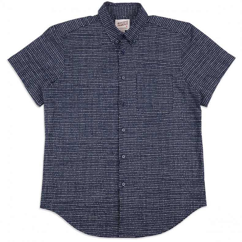 Рубашка Naked and Famous Easy Shirt - Kimono Chon - IndigoShirt