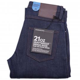 Джинсы The Unbranded Brand UB321 Straight Fit - 21 Oz Indigo Selvedge Raw