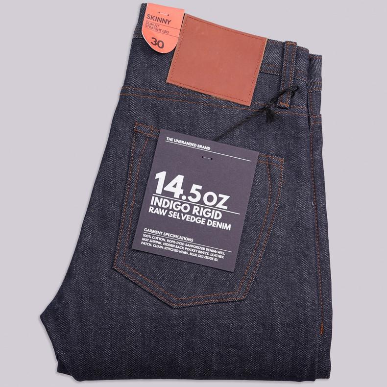 Джинсы The Unbranded Brand UB101 Skinny Fit 14.5 oz Selvedge Raw
