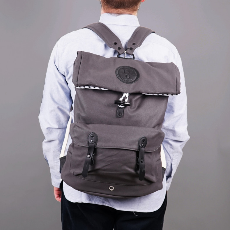 Рюкзак Stighlorgan Reilly Lacquered Canvas Polltop Backpack Slate Grey