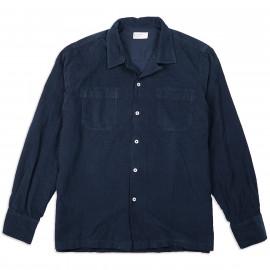 Рубашка Universal Works Garage Shirt Super Fine Cord Navy