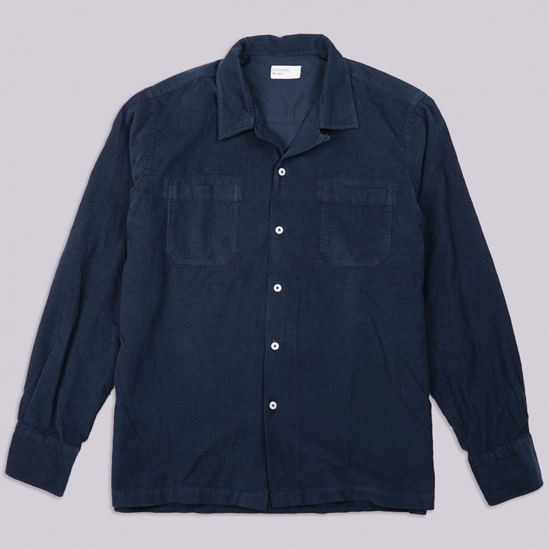 Рубашка Universal Works Garage Shirt Super Fine Cord Navy
