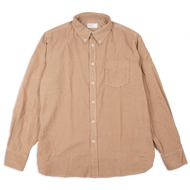 Рубашка Universal Works Everyday Shirt Super Fine Cord Sand