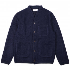 Кардиган Universal Works Cardigan Wool Fleece Navy