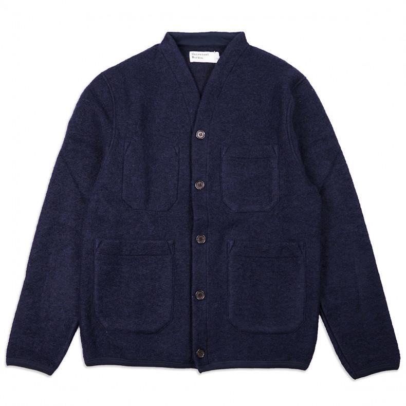 Кардиган Universal Works Cardigan Wool Fleece Navy